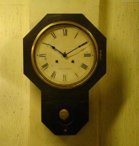 Original antique seth thomas drop octagon wall clock for Seth thomas wall clocks value