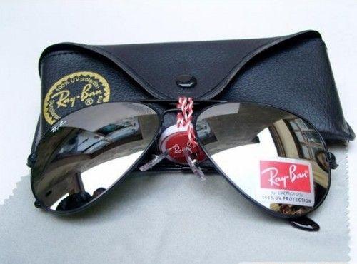 0bb78a96753 Ray ban Aviator 3025 BLACK FRAME MIRROR LENS best gift