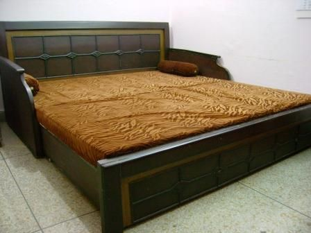 Diwan single cum double bed 6 by 6 feet good condition for Double bed diwan