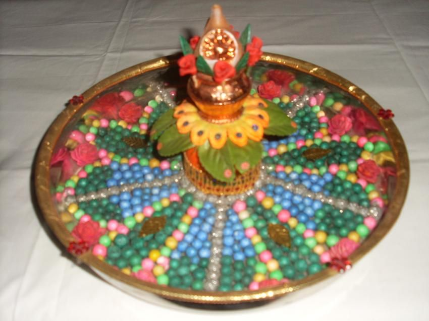 Aarthi plates decorations for sale and rent for Aarthi plates decoration