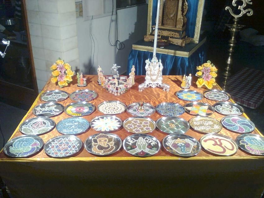 Aarathi plates and seer varisai thattu for Aarathi plates decoration