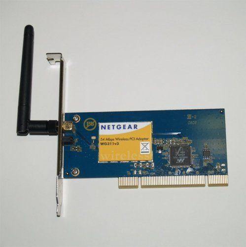Netgear wg311v3 54mbps wireless pci adapter network card.
